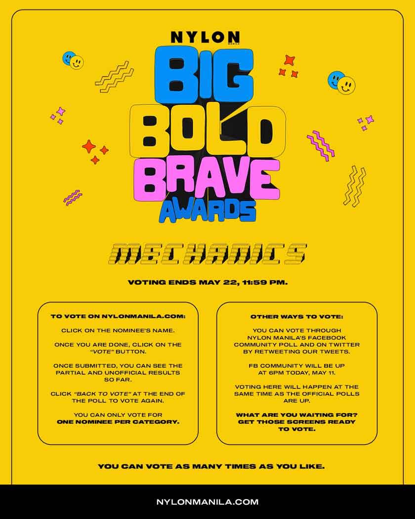 nylon manila big bold brave awards